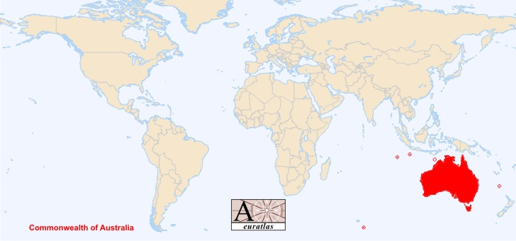 carte oceanie dans le monde - Image
