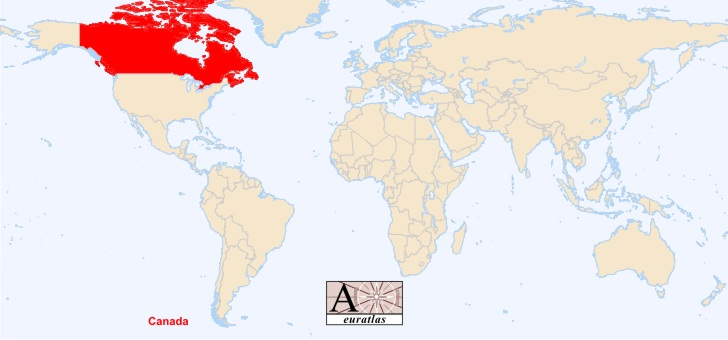 World Atlas the Sovereign States of the World Canada Canada