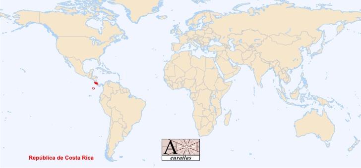 costa rica sur la carte du monde