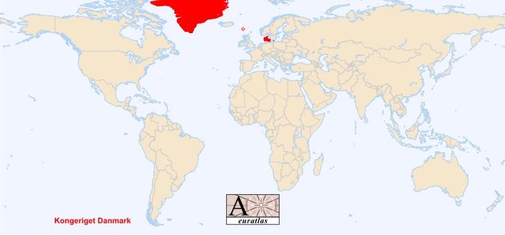 Denmark Map Of World