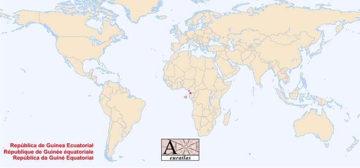 guinee sur la carte du monde