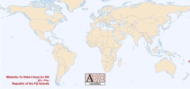 World Atlas the Sovereign States of the World Fiji Fiji Viti