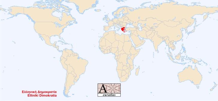 grece-carte-du-monde - Photo