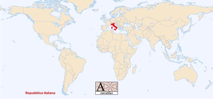 World Atlas the Sovereign States of the World Italy Italia – Map World Italy