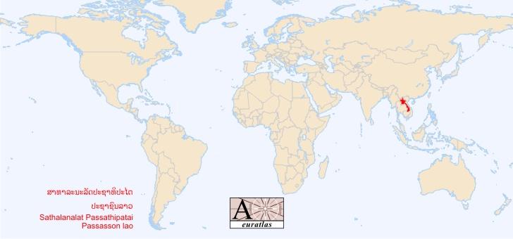 laos sur la carte du monde