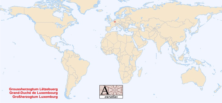 carte du monde luxembourg - Image