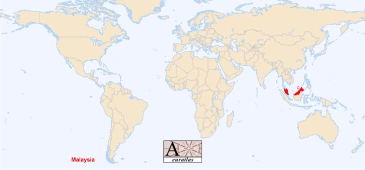 indonesie sur la carte du monde - Image