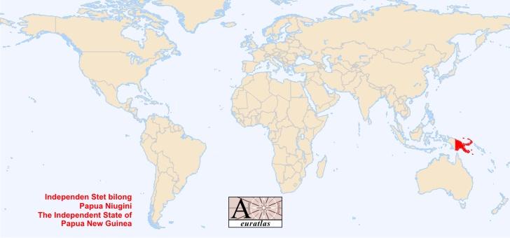 Atlas du monde tous les pays souverains de la plan te Papouasie Papua Niu