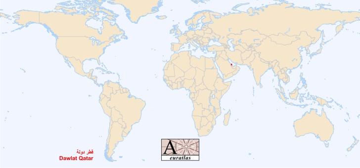 qatar sur la carte du monde - Photo