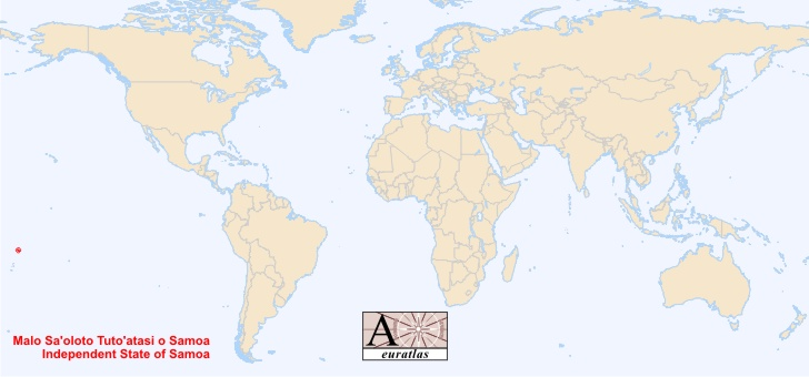 World Atlas the Sovereign States of the World Samoa Samoa