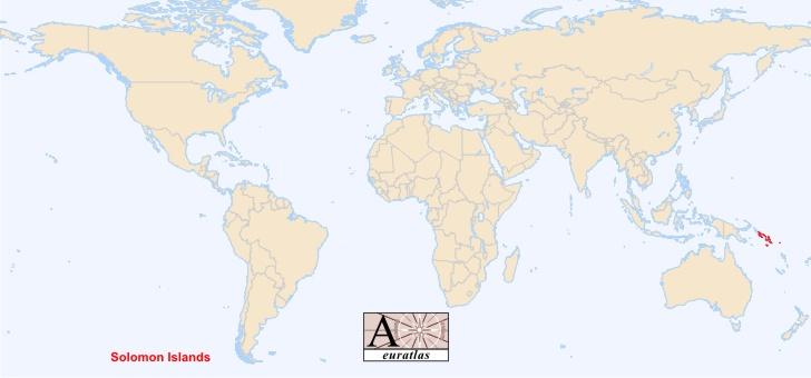 iles salomon sur la carte du monde