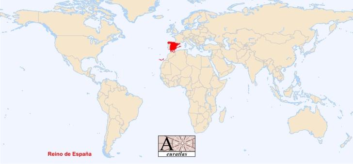 SPAIN ON WORLD MAP - Imsa Kolese
