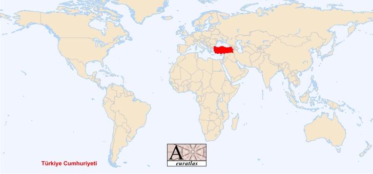 Turkey Map World Atlas
