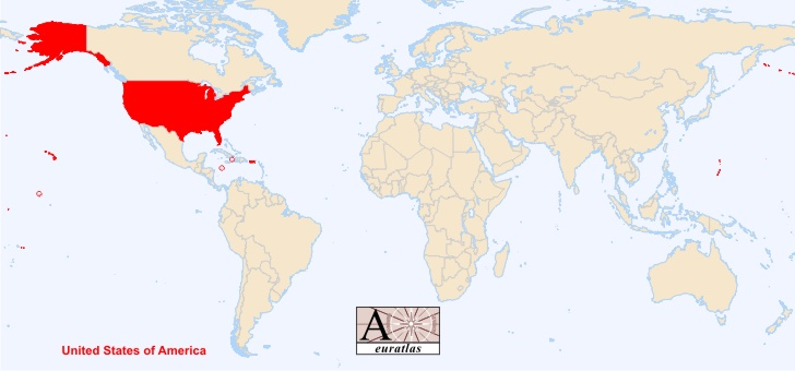 World Atlas the Sovereign States of the World United States USA – Usa in World Map