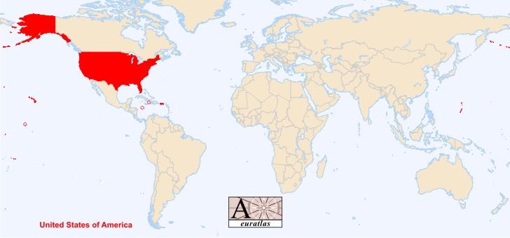 carte du monde usa - Image