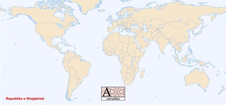 World Atlas the Sovereign States of the World Albania Shqipria