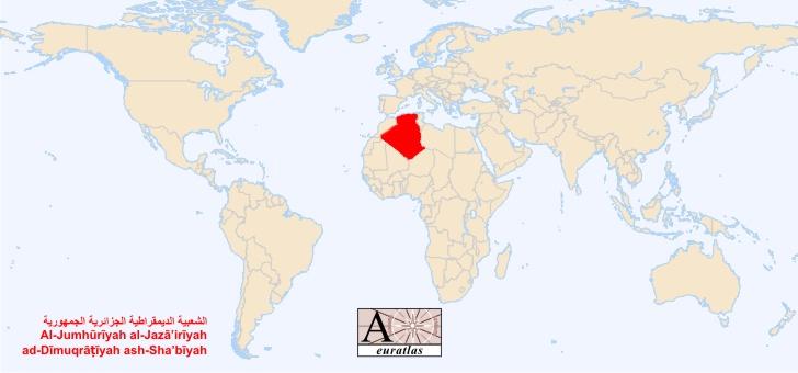 atlas du monde tous les pays souverains de la plan te alg rie al jaza 39 ir. Black Bedroom Furniture Sets. Home Design Ideas
