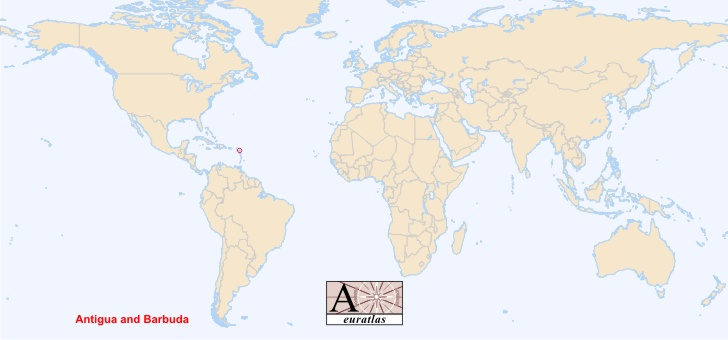 Antigua And Barbuda World Map.World Atlas The Sovereign States Of The World Antigua Barbuda