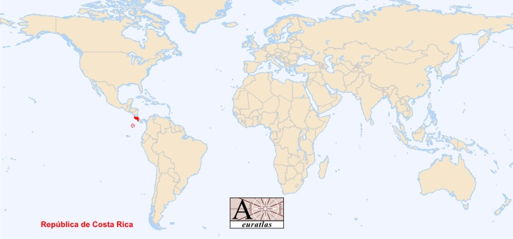 World Atlas The Sovereign States Of The World Costa Rica Costa - Map of costa rica world