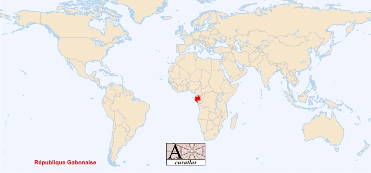 Gabon World Map.World Atlas The Sovereign States Of The World Gabon Gabon