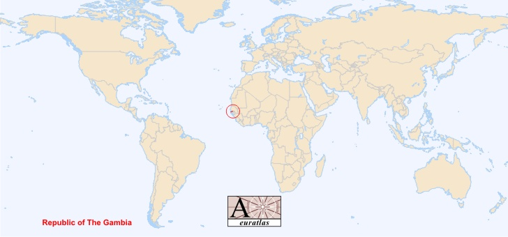 World Atlas the Sovereign States of the World  Gambia Gambia
