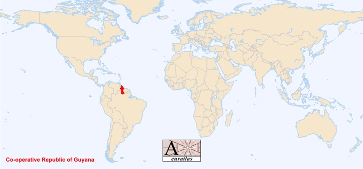 Guyana Location On World Map.World Atlas The Sovereign States Of The World Guyana Guyana