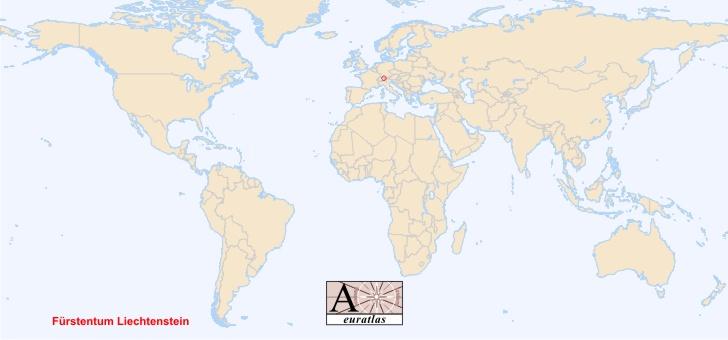 World Atlas the Sovereign States of the World Liechtenstein