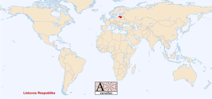 Atlas du monde: tous les pays souverains de la planète   Lituanie