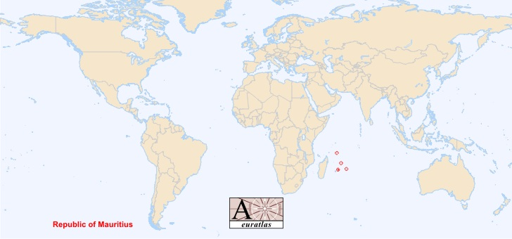 World Atlas The Sovereign States Of The World Mauritius Moris - Mauritius location in world map