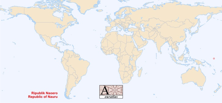 World Atlas the Sovereign States of the World Nauru Naoero
