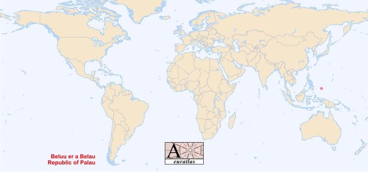 World Atlas The Sovereign States Of The World Palau Belau Palau