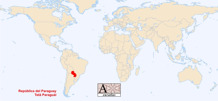 World Atlas The Sovereign States Of The World Paraguay - Map of paraguay world