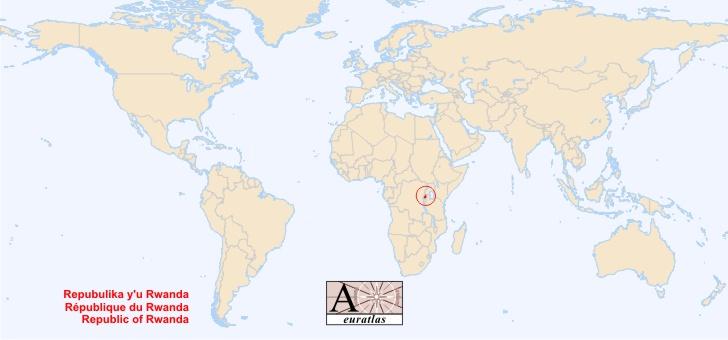World Atlas the Sovereign States of the World Rwanda Rwanda