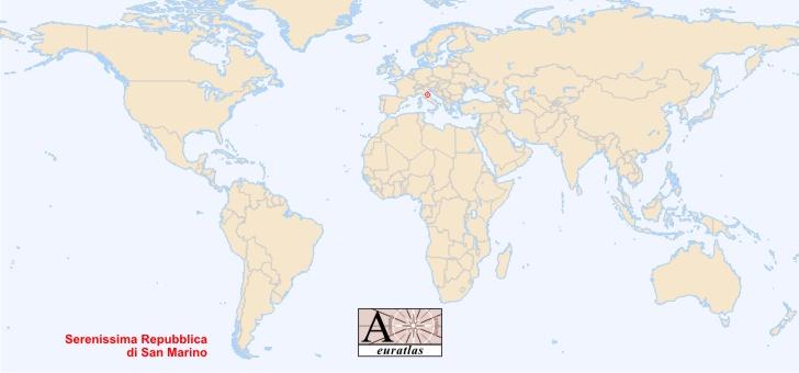 World Atlas the Sovereign States of the World San Marino San Marino