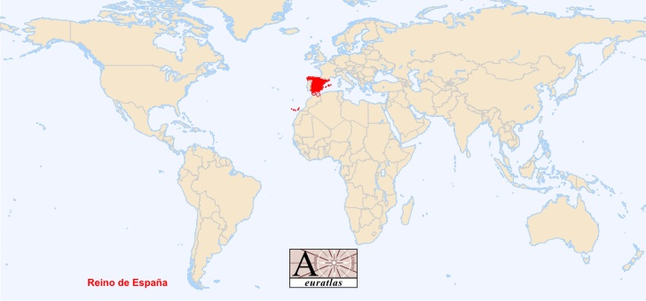 Map Of Spain In The World.World Atlas The Sovereign States Of The World Spain Espana