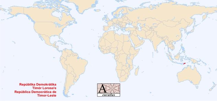 World Atlas the Sovereign States of the World  East Timor Timor